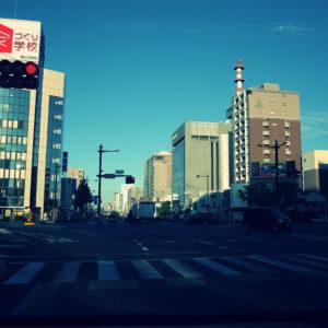 秋晴れ、朝、おかやまマラソン、岡山マラソン