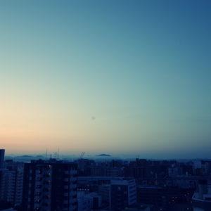 朝、雲海、岡山、金甲山