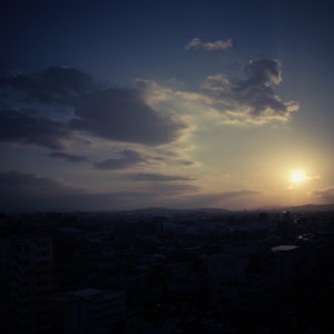 岡山、夕日、夕陽