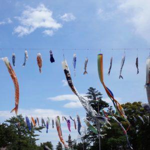 岡山、吉備津彦神社、鯉のぼり、こいのぼり
