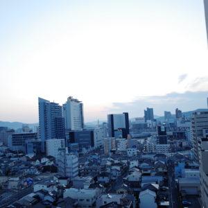 4月なのに寒い、岡山