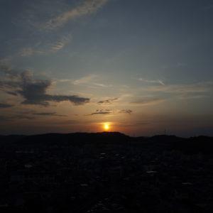岡山、連休、GW,夕日、夕陽